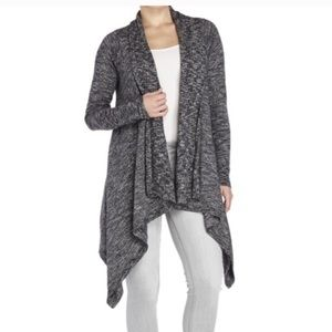 Lucky Brand Marled Draped Cardigan